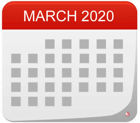 news and events calendar in march 2020 at Starlight's Daycare Nursery
