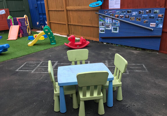 outside play area at Starlight's Daycare Nursery